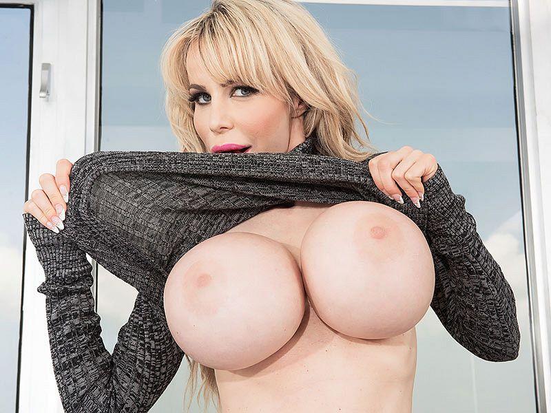 Danielle Super-sizes Her Rack