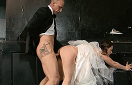 Dirty bride gets the pounding of