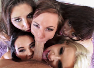 Reverse Gangbang Compilation #02
