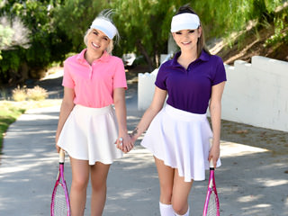 Stepsister Tennis Sex Scène 1