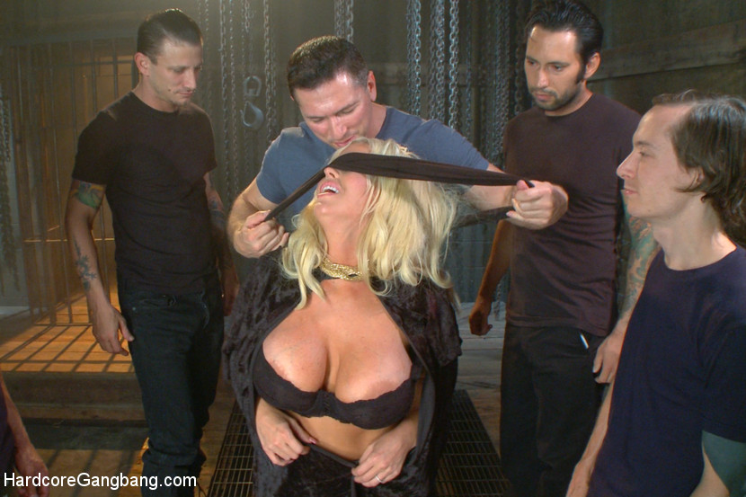 Desperate wife gets her gangbang