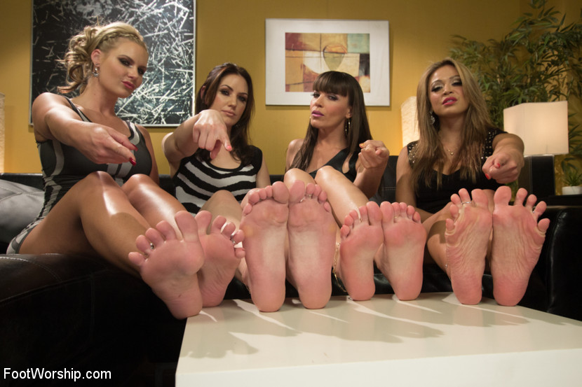 Cum Covered Toes In Clear Heels: