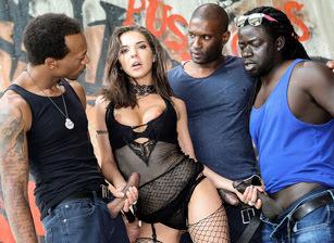 Henessy's Big Black Cock Gangban