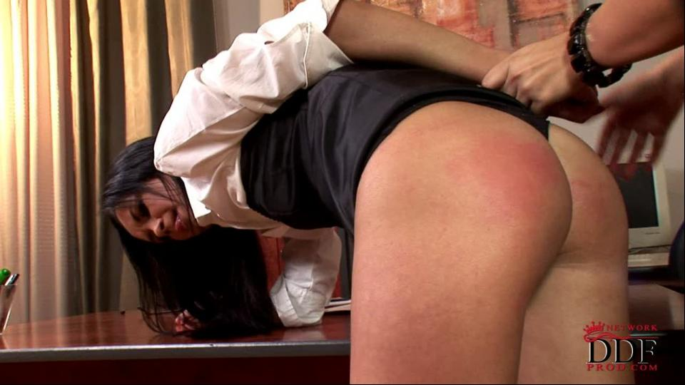 Lucy Belle punishing her secreta
