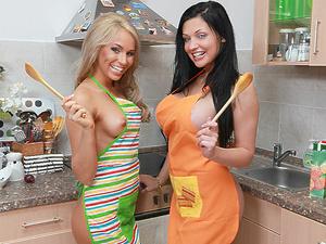 Aletta & Aleska cooking Scène 1