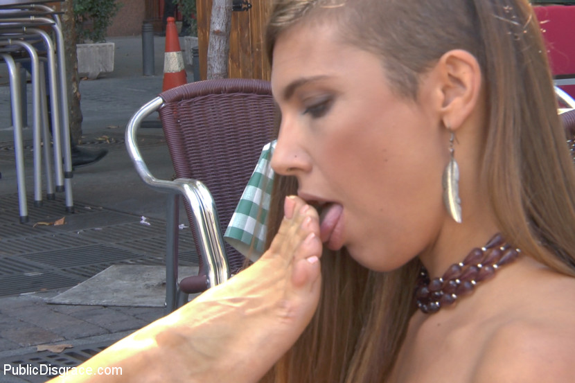 Saucy Spanish Slut Dragged Aroun