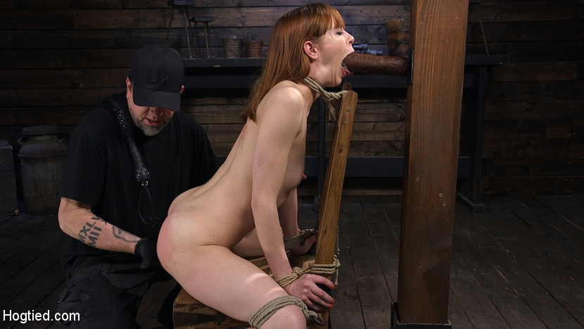 Red Headed Rope Slut Gets Brutal