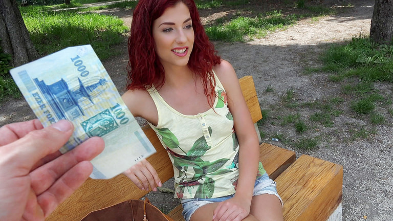 Curly Haired Euro Babe Begs For