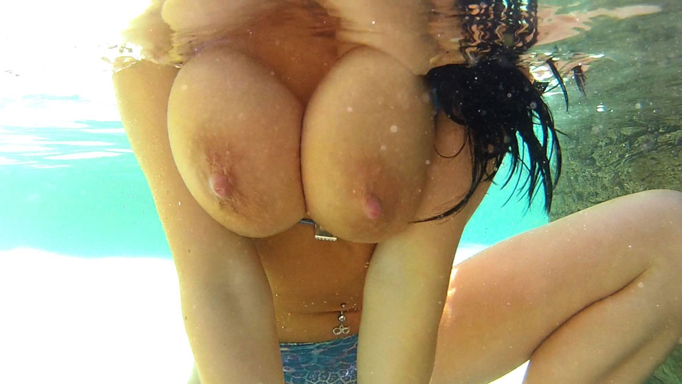 Romi Rain Soaking Wet Poolside F