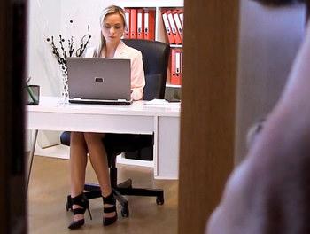Czech Blonde Fucks in Office