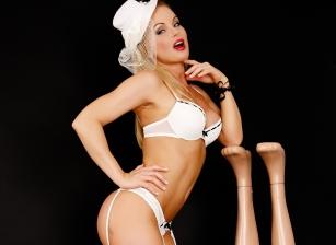 Silvia Between Mannequins