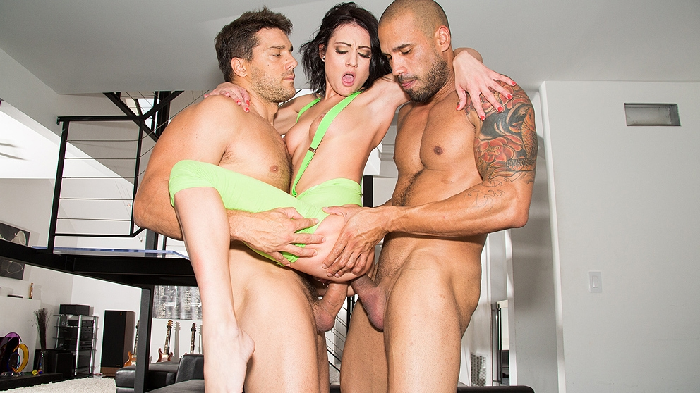 Chase Ryder 1st DP Two Cocks Are