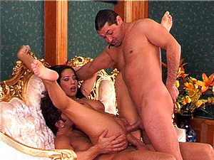 Double anal with Lara Stevens