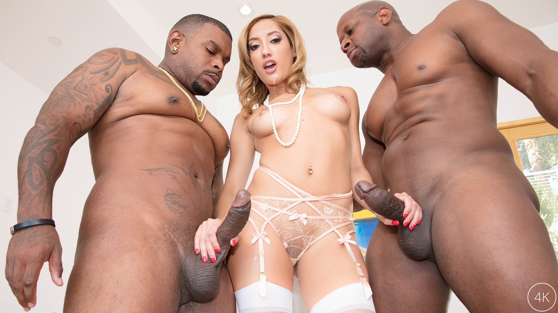 Chloe Amour Takes Two BBC's To D
