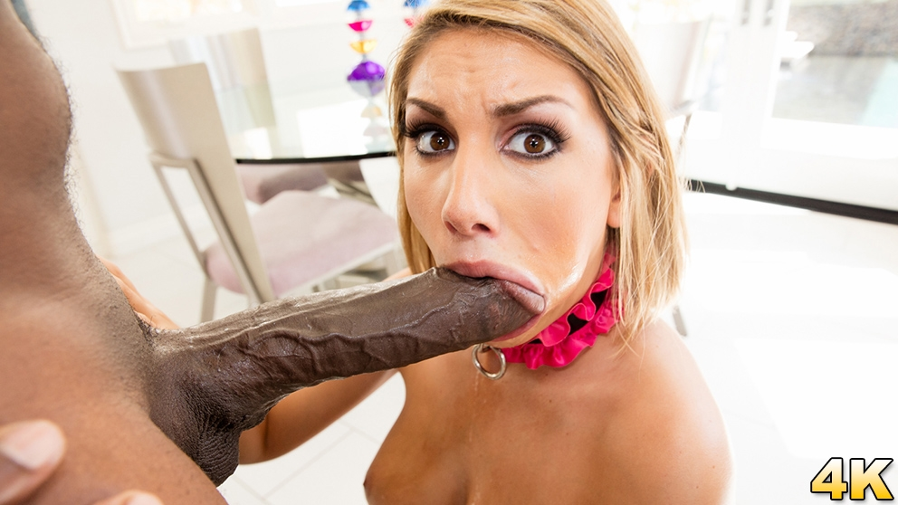 August Ames Takes A Big Black Cock! Once You Go Mandingo You Go Wheelchair Scena 1