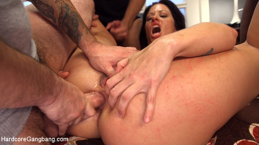 Hot MILF Wife Gangbanged and Gla