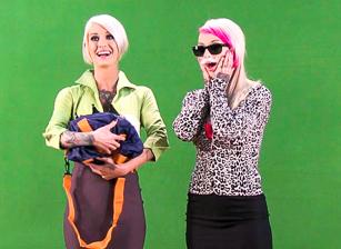 Blondes Behind the Scenes!