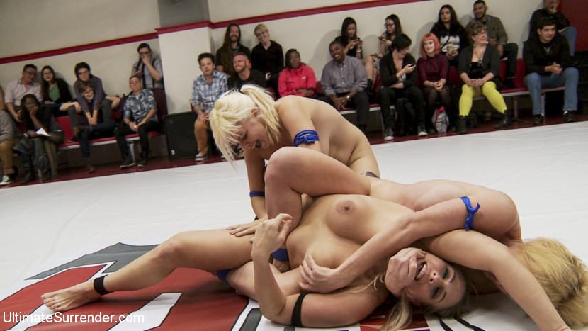 Big Tittied Blond Tag Team Match