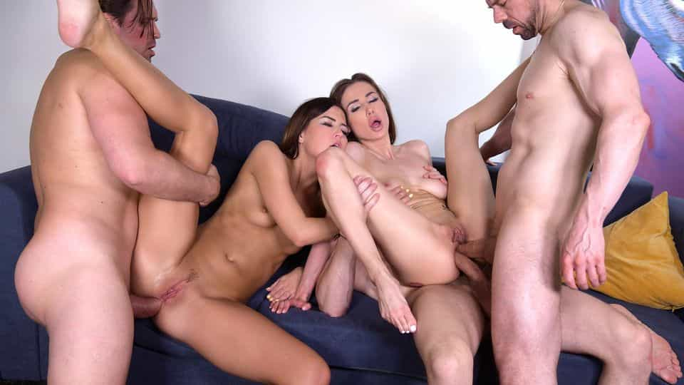 3m2f DP Swingers Orgy with Horny