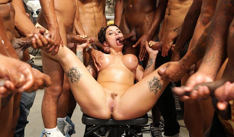 Interracial Blowbang - Ivy Lebel