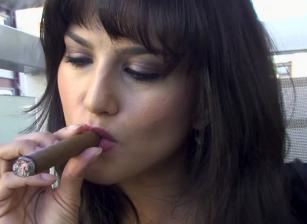 Sunny Teaches How To Smoke A Cig
