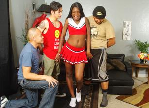 Black Cheerleader Gang Bang #27
