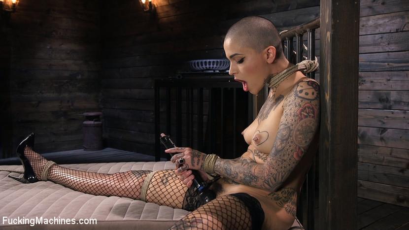 Tattooed Slut Machine Fucked in