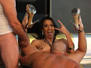 Backstage of  'Hot Latina gets t