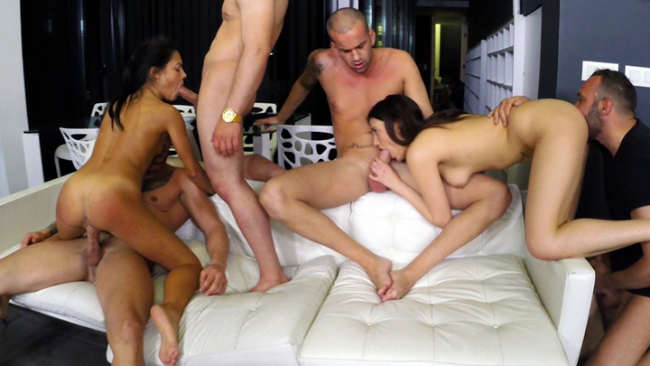 Apolonia's first gangbang