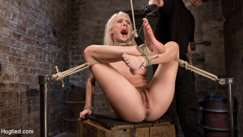 Blonde Rope Slut is Victimized a