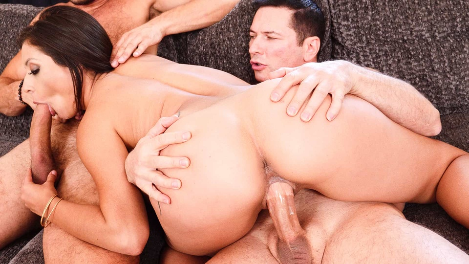Sexy Latina Fucks Father & Son