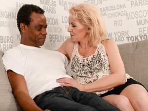 Horny Granny's Interracial Exper