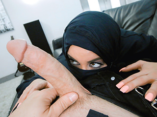 Busty Arabic Teen Violates Her R