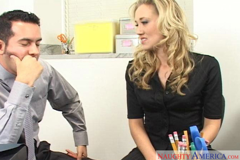Naughty Office - Alana Evans & V