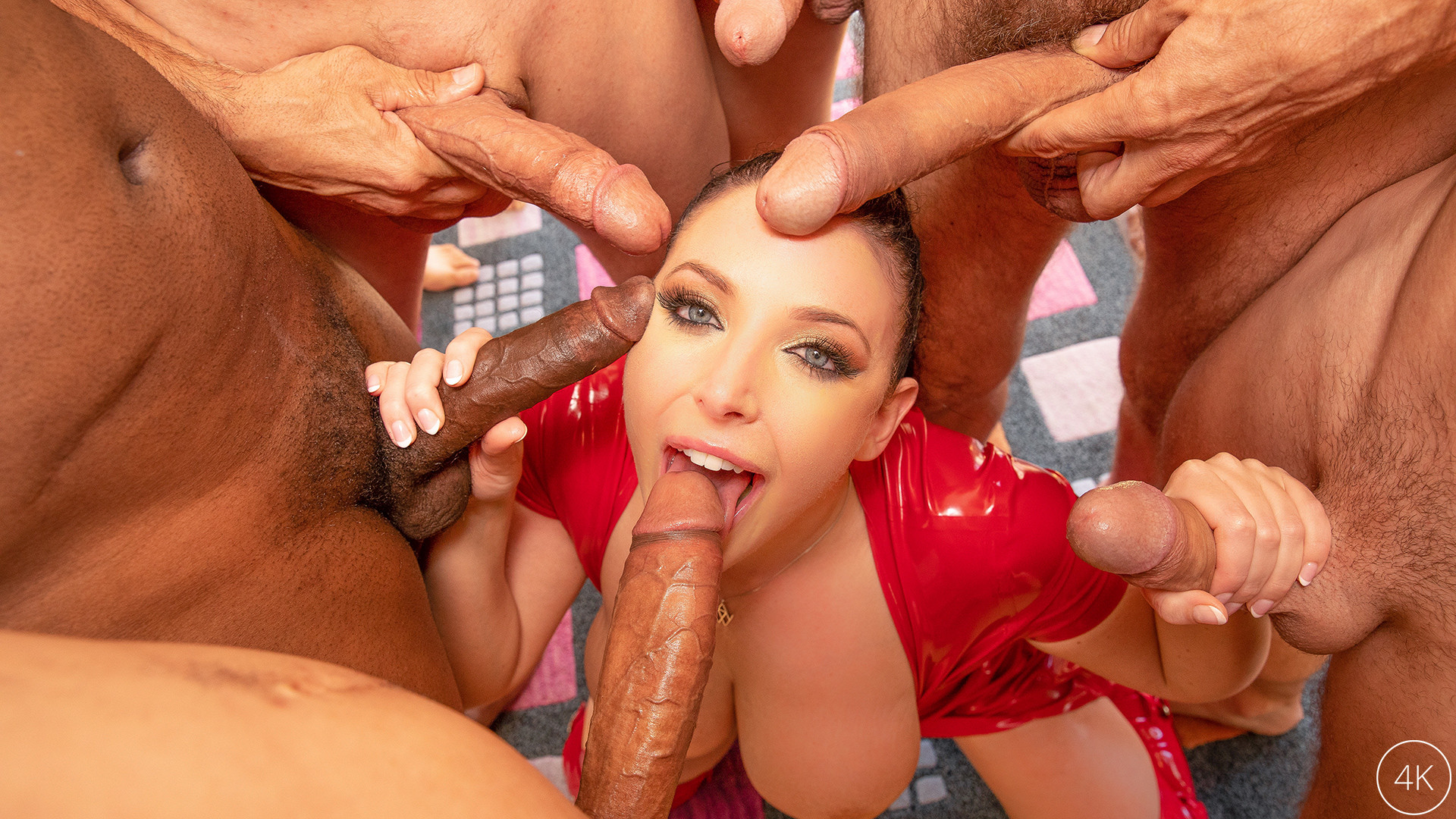 Swarmed By 13 Guys Angela White