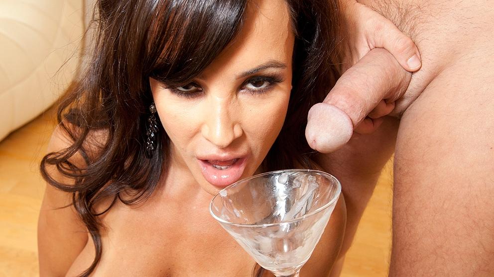 Lisa Ann Drinks A Sperm Cocktail