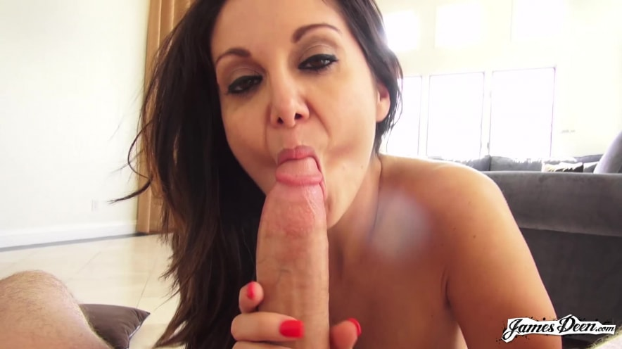 Ava Addams and James Deen Hang O