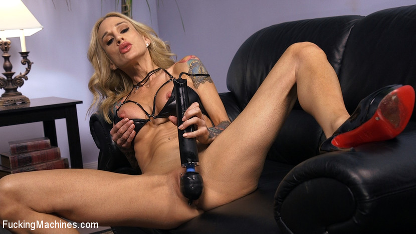 Blonde MILF has Machine Sex for