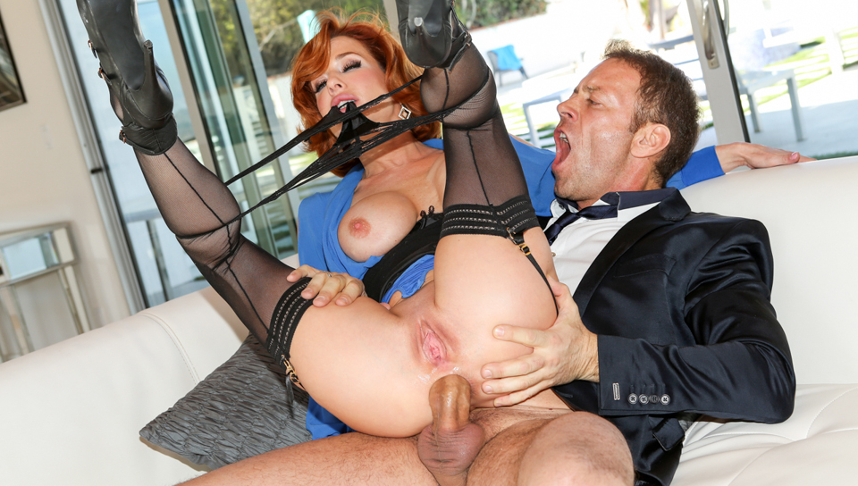 Sexy ebony queen b bounces her booty while riding a cock 8