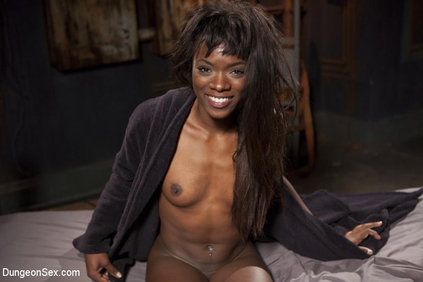 Ebony Submissive Fucked in Tight