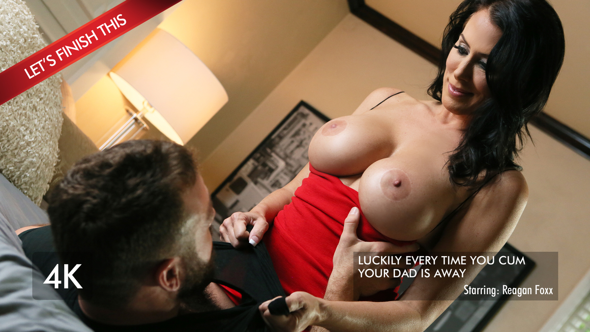 Juicy Chested Reagan Gives In an