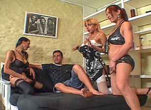 Big Cock She Male Gang Bang #04