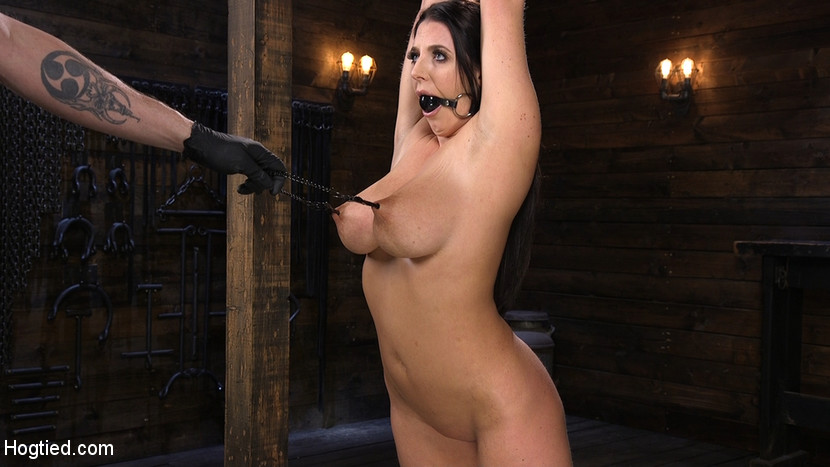 Angela White's First Time in Brutal Bondage and Tormented Scène 1