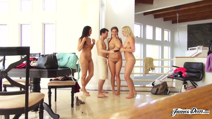 BTS of James Deen's 3 on 1