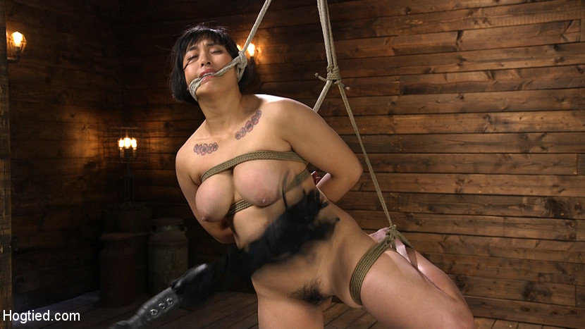 Mia is Bound in Grueling Rope Bo