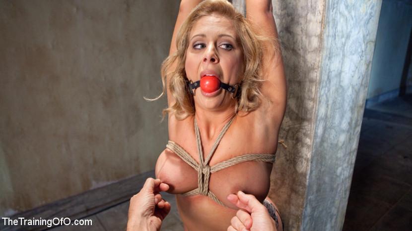 Slave Training a Big Tit Blonde