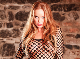 Lovely Silvia in Fishnet Bodysui