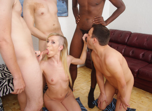 Bi Forced Cuckold Gang Bang #02