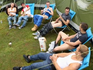 Bonding With A Group Wank - Kai, Fraser, Bradley,