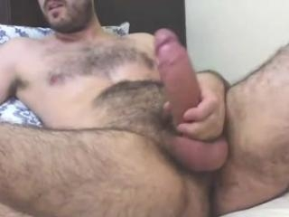 Brazilian boyfriend plays with huge dick